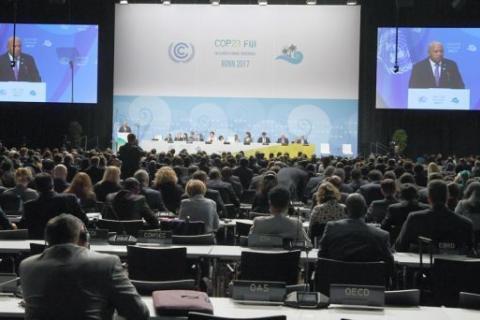 Países africanos integrados nos PALOPs apresentam as suas contribuições na 23ª conferência da ONU sobre o clima  Fotografia: Patrik Stollarz |AFP