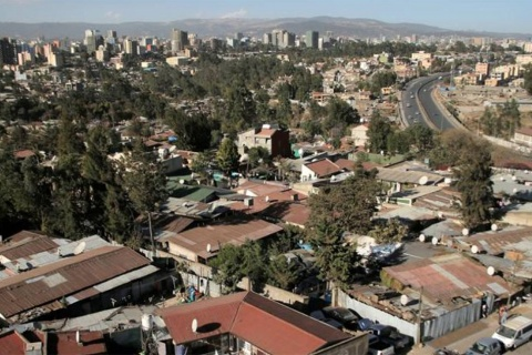 An aerial view shows housing in Addis Ababa, Ethiopia February 15, 2018. REUTERS/Tiksa Negeri