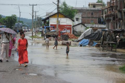 nepal flood slum