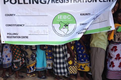 kenya election queue