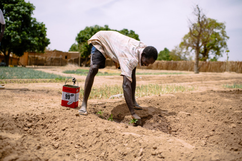 "Kabré Ali a farmer says ""I sell all my production. This allows me to support my family. I'm happy here. I hope that the rainy season will be as good as last year."" Tintilou village, Burkina Faso."