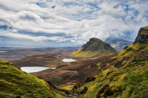 A photograph of the landscape in Cuith-Raing in Scotland