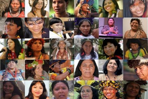 Algumas das mulheres indígenas que fazem parte da lista das 100; Imagem: Redação Yandê