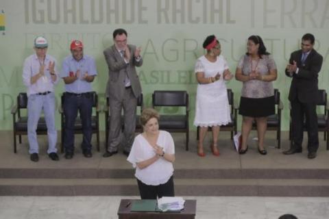 55 mil hectares de terra para reforma agrária e territórios quilombolas; Foto: Paulo H. Carvalho/MDA