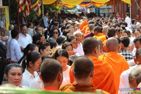 A ceremony marks the official recognition of Wat Samakki Raingsey, in Phnom Penh's Meanchey district