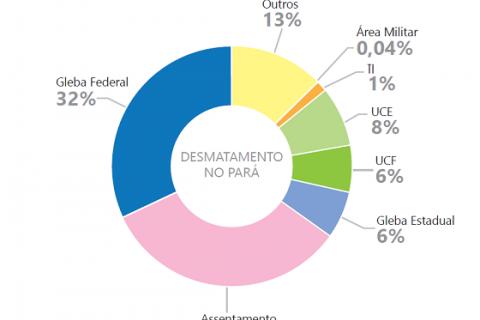 Desmatamento por categoria fundiária no Pará entre 2013 e 2016 (Foto: Imazon)