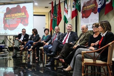 O ato foi realizado pelo Conselho Nacional de Direitos Humanos (CNDH) em parceria com movimentos e organizações sociais. Foto: Guilherme Cavalli / Cimi