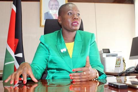 Lands Cabinet Secretary Farida Karoney. Image: FILE