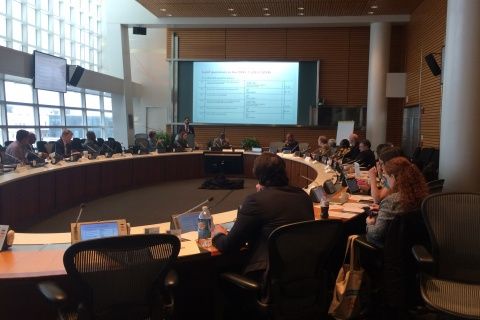 EGM on use of administrative data in the monitoring of indicator 1.4.2 organized by WB and UN-Habitat; July 2017. Photo credit – World Bank