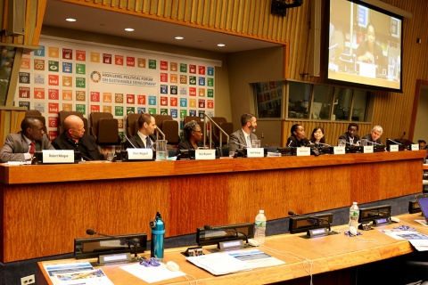 Panelists at the 2017 UN High Level Political Forum Side Event on Monitoring Tenure Security in the SDGs
