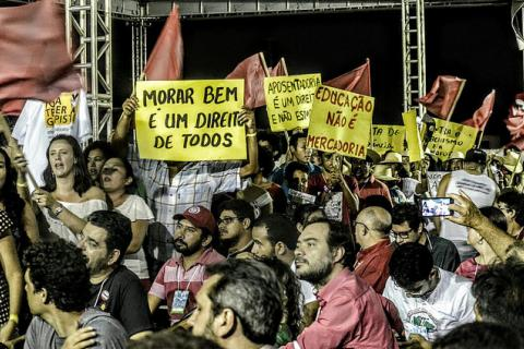 Militantes durante encontro da Coordenação Nacional do MST que ocorreu entre os dias 23 e 27 de fevereiro em Fortaleza (CE) / Luiz Fernando