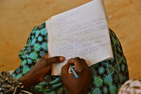 Note-taking in Tanzania Photo Credit: Cecilia Schubert/ CCAFS