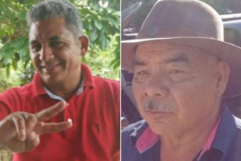 Waldomiro Costa Pereira (à esquerda) e Antonio Mig Claudino foram executados no dia 20 de março. Fotos: reprodução