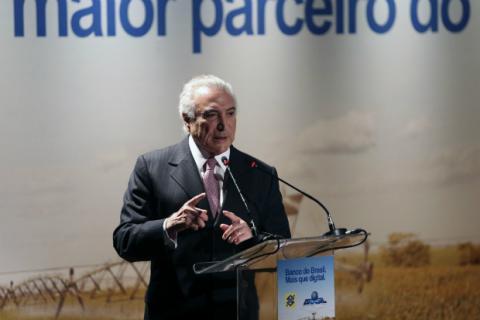 O presidente Michel Temer no lançamento do Programa Nacional de Regularização Fundiária