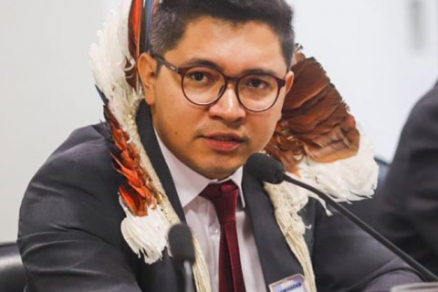 Eloy Terena, legal coordinator of the Articulation of Indigenous Peoples of Brazil (APIB). Image cou