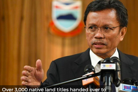 Over 3,000 native land titles handed over to Sabahans this year, says CM