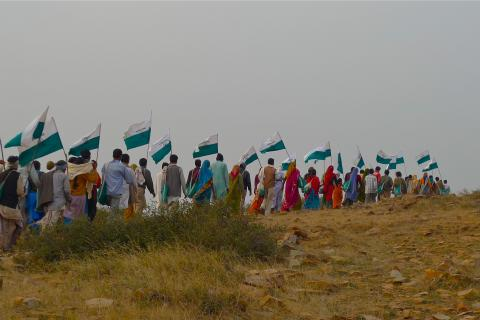 Walk for land rights, Chambal, India, 2009.