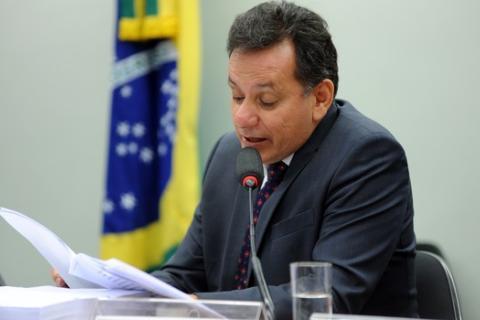 O deputado Nilson Leitão (PSDB-MT) durante reunião da CPI da Funai na Câmara (Foto: Billy Boss – Câmara dos Deputados)