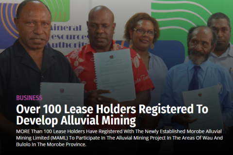 Over 100 lease holders registered to develop alluvial mining