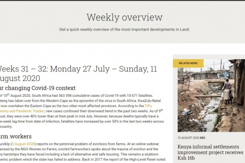KB.L Land news Weeks 32 - 33 South Africa