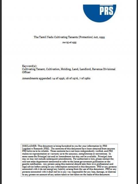 PRS Legislative Research   Land Portal