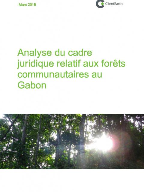 Analyse du cadre juridique relatif aux forêts communautaires au Gabon