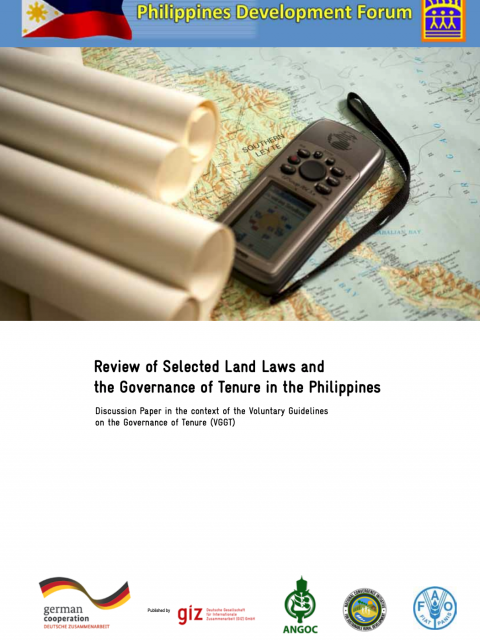 Review of Selected Land Laws and the Governance of Tenure in the Philippines cover image