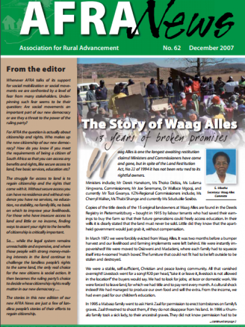 AFRA News No.62