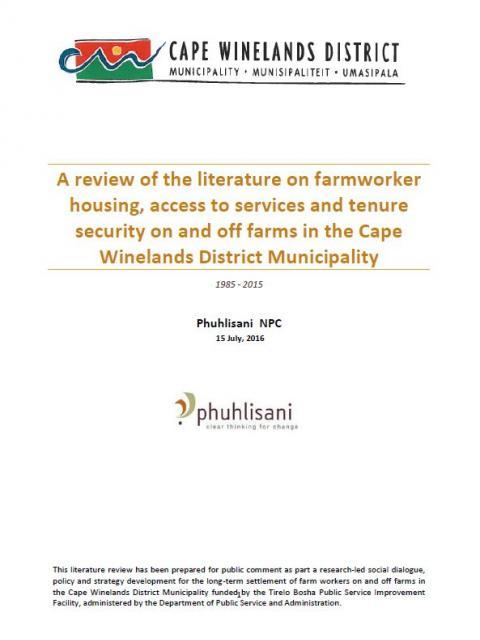 Farmworker literature review