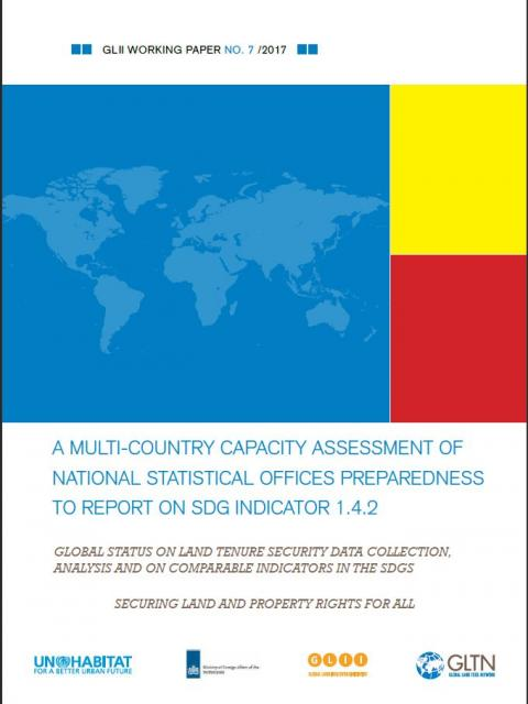 A Multi-Country Capacity Assessment of National Statistical Offices Preparedness to Report on SDG Indicator 1.4.2 cover image