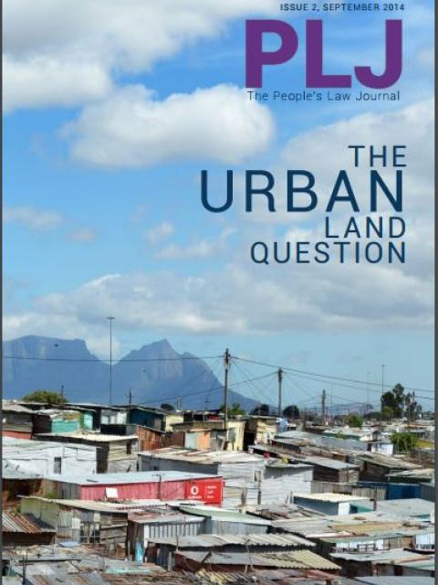 People's Law Journal No 2: The Urban Land Question