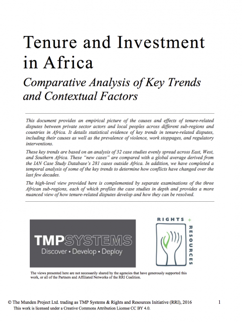 Tenure and Investment in Africa cover image