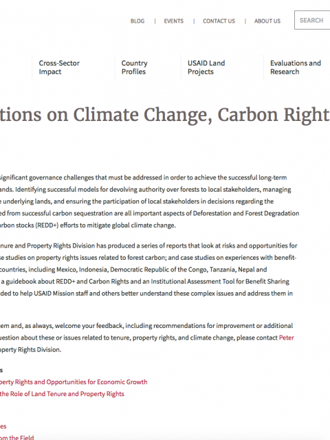 New Publications on Climate Change, Carbon Rights, and Forest Governance cover image