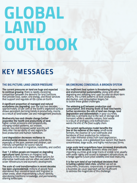 Global Land Outlook cover image