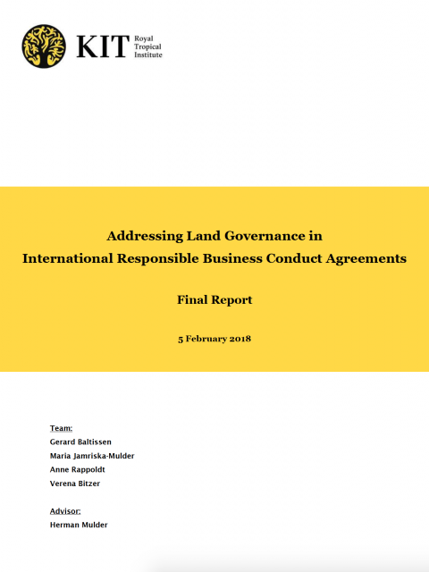 Addressing Land Governance in International Responsible Business Conduct Agreements cover image