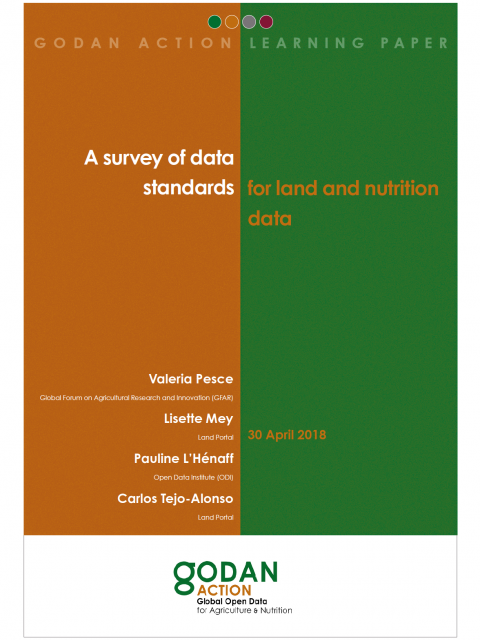 A survey of data standards for land and nutrition data cover image