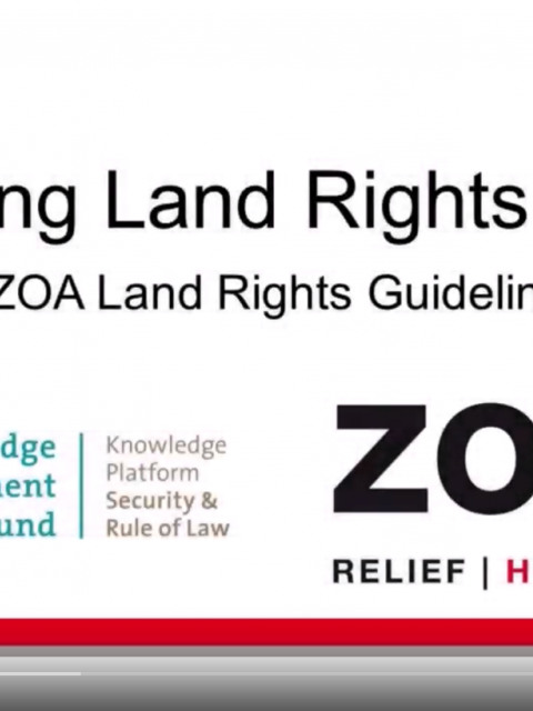 Making Land Rights Work: ZOA Land Rights Guidelines Video cover image