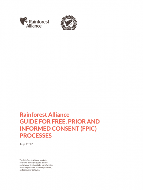 Guide for Free, Prior and Informed Consent (FPIC) Processes cover image