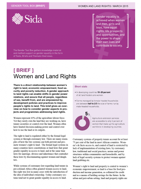Women and Land Rights