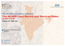 NCAER releases India's first Land Records and Services Index to energise land governance in India