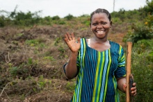 Fatuma, an agricultural laborer in Tanzania, is among the millions of women worldwide who work on land but don't own land of their own.