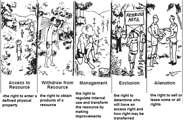 A stylized presentation of the bundles of rights